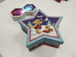 Cute Lovely Custom Printed Packaging Boxes Pentagram Shaped For Kids Food